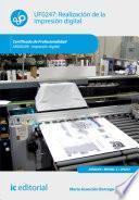 Realización de la impresión digital. ARGI0209