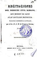 Recitaciones del derecho civil romano