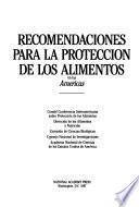 Recomendaciones para la proteccion de los alimentos en las Americas