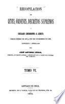 Recopilacion de leyes i decretos supremos concernientes al ejército, desde abril de 1812 a [diciembre de 1887] ...: Enero de 1878 a diciembre de 1883. 1884