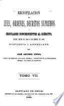 Recopilacion de leyes i decretos supremos concernientes al ejército, desde abril de 1812 a [diciembre de 1887] ...: Enero de 1884 a diciembre de 1887. 1888