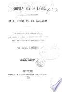 Recopilacion de leyes y disposiciones fiscales de la República del Paraguay