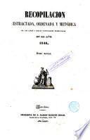 Recopilación estractada [sic], ordenada y metódica de las leyes y reales disposiciones ..., 9
