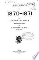 Recuerdos de 1870-1871