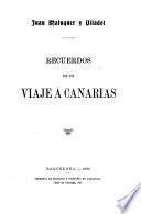 Recuerdos de un viaje á Canarias