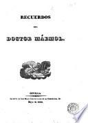 Recuerdos del doctor Mármol