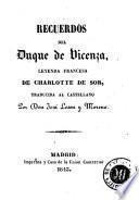 Recuerdos del Duque de Vicenza
