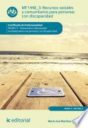 Recursos sociales y comunitarios para personas con discapacidad. SSCE0111