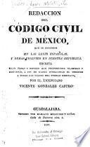 Redaccion del Código civil de México