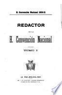 Redactor de la H. Convención Nacional