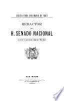 Redactor del H. Senado Nacional