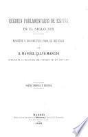 Régimen parlamentario de España en el siglo XIX.