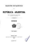 Registro estadistico de la republica Arhentina