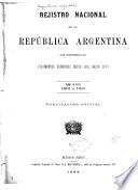 Registro nacional de la República argentina