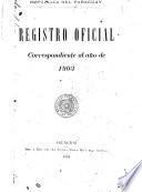Registro oficial correspondiente al año de ...