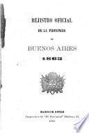 Registro oficial (de la provincia de Buenos Aires).