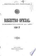 Registro oficial de la República del Paraguay ...