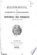 Registro oficial del gobierno de la República del Paraguay