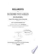 Reglamento del Manicomio Nueva-Belén en la villa de Gracia...