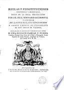 Reglas y Constituciones dispuestas y ordenadas para el Real Seminario Sacerdotal y Concilar de Valencia fundado por el Ilmo. y Excmo. Señor D. Francisco Fabian y Fuero Arzobispo de Valencia