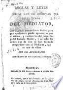 Reglas y leyes que se han de observar en el juego del mediator