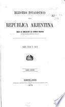 Rejistro estadístico de la República Arjentina
