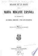 Relacion de los buques de la marina mercante española