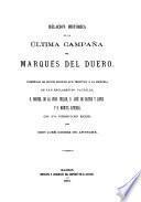 Relacion histórica de la última campaña del marqués del Duero