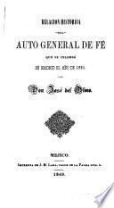 Relacion histórica del auto general de fé qué se celebró en Madrid el año de 1680