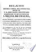 Relacion historica y moral de la portentosa imagen de N. Sr. Jesucristo crucificado aparecida en una de las cuevas de S. Miguel de Chalma
