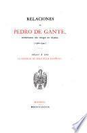 Relaciones de Pedro de Gante, secretario del duque de Nájera