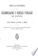 Relaciones de solemnidades y fiestas de España