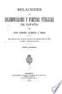 Relaciones de solemnidades y fiestas públicas de España