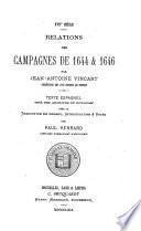 Relations des campagnes de 1644 & 1646