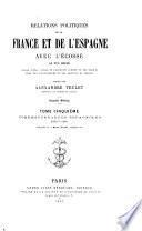 Relations politiques de la France et de l ́Espagne avec l ́Ecosse