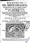 Remedios de deplorados probados en la piedra lydio de la experiencia