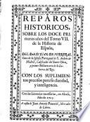 Reparos historicos sobre los doce primeros annos del Tomo VII. de la historia de España del Doct. Juan de Ferreras