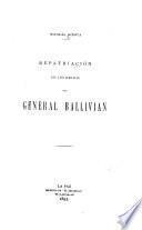 Repatriación de los restos del general Ballivián
