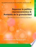 Repensar la política macroeconómica II