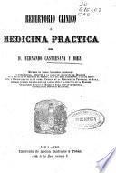 Repertorio clínico ó medicina práctica