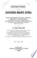 Repertorio de la jurisprudencia mercantil española