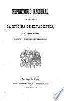 Repertorio nacional formado por la Oficina de Estadística, en conformidad del artículo 12 de la Lei de 17 de setiembre de 1847