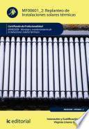 Replanteo de Instalaciones solares térmicas. ENAE0208