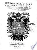 Reportorio muy copioso del texto y leyes de las Siete partidas