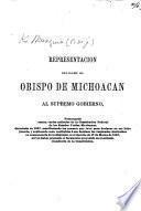 Representacion ... al supremo gobierno, protestando contra varios artículos de la constitucion federal de los Estados Unidos Mexicanos, decretada in 1857, etc