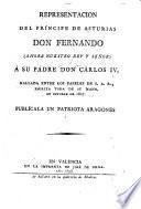 Representación del principe de Asturias Don Fernando