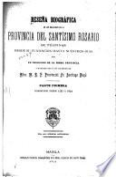 Reseña biográfica de los religiosos de la provincia del Santísimo Rosario de Filipinas desde su fundación hasta nuestros dias