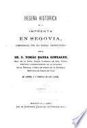 Reseña histórica de la imprenta en Segovia