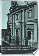 Reseña histórica de la inauguración de la Iglesia de San Ignacio de Loyoloa de Manila en 1889