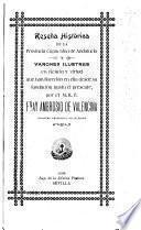 Reseña histórica de la provincia capuchina de Andalucía, y varones ilustres en ciencia y virtud que han florecido en ella desde su fundación hasta el presente